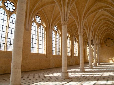 Le réfectoire de l'abbaye